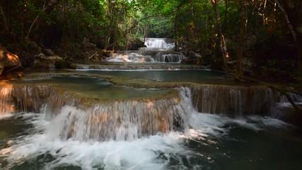 Wall Mural - Huay Mae Kamin waterfall in summer