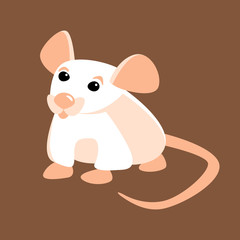 Mouse vector illustration style Flat