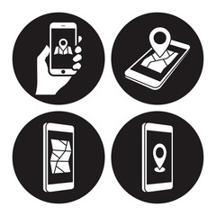 GPS phone icons