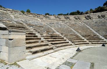 Le théâtre antique de Bodrum en Anatolie