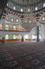 Lustre de la mosquée de Turgut Reis sur la presqu'île de Bodrum en Anatolie
