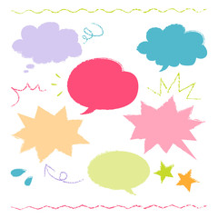 colorful hand drawn speech balloon illustration