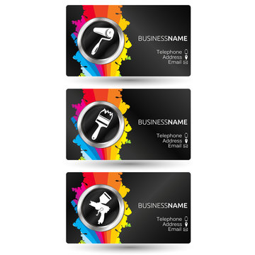 Business card painting set