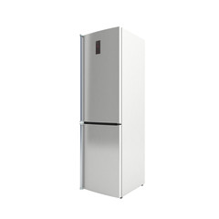 Stainless steel modern refrigerator 3d illustration no shadow