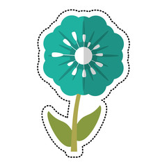 cartoon pansy flower decoration image vector illustration eps 10