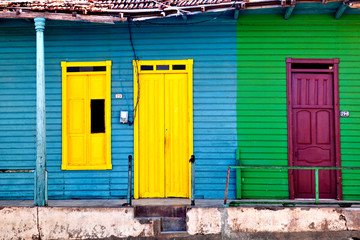 Old colorful houses in Baracoa, Cuba
