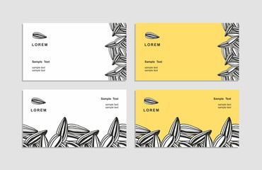 Business card, corporate identity, drawn by hand.