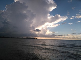 cloud sea shore