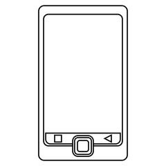 smartphone mobile technology screen line vector illustration eps 10