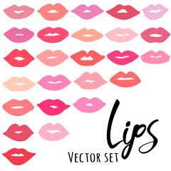 Lips vector icon set
