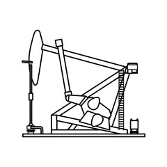 Petroleum pump machinery vector illustration graphic design