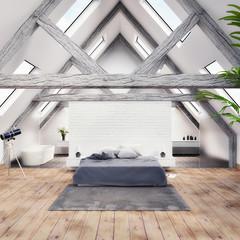 Interior design - Schlafzimmer - 3D render