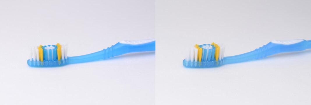 stereogram of blue toothbrush