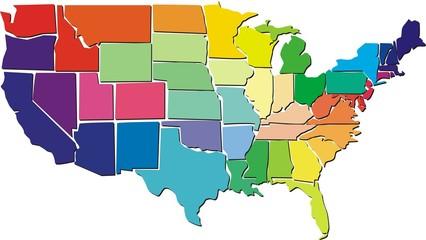 USA colorful map