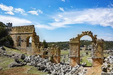 Uzuncaburc ruins. mersin-Turkey - Ruins of ancient cities olba, Aqueduct