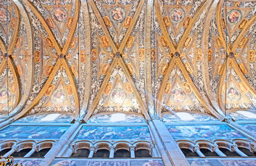 The ceiling of Parma Cathedral