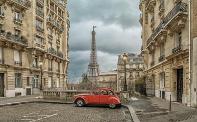 Aluminium Prints Paris Avenue de Camoens in Paris