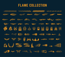 flame decoration collection