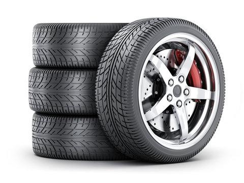 Four car wheel