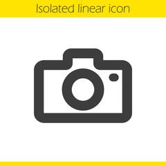 Photo camera linear icon