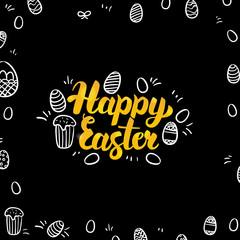 Easter Gold and Black Design