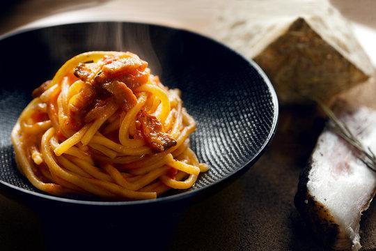 Italian food spaghetti