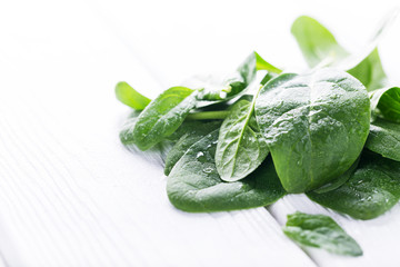 Fresh raw spinach