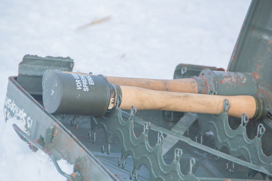 winter in a box, a hand grenade of the Wehrmacht.