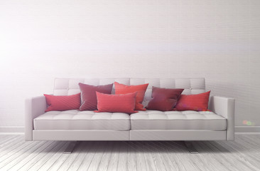 interior with sofa. 3d illustration