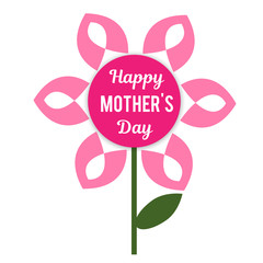 Flower to mother's day. Vector illustration for holiday decoration.