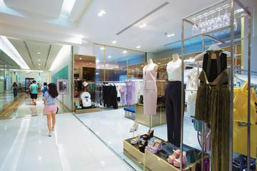 interior of modern shopping mall