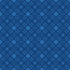 Arabic seamless pattern. Mosaic Oriental Ornaments. Vector illustration.