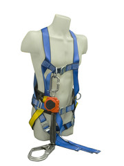 Mannequin in safety harness equipment