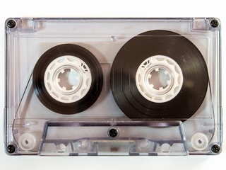 Audio cassette tape isolated