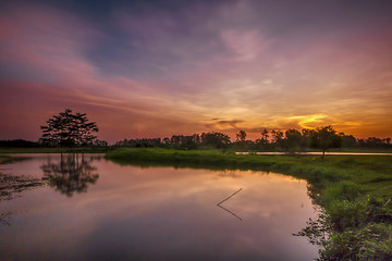landscapes,nature, sunset, sunrise, blue, golden hour, twilight, indonesia, long exposure, great shoot, amazing landscapes, lake, sun, sky,