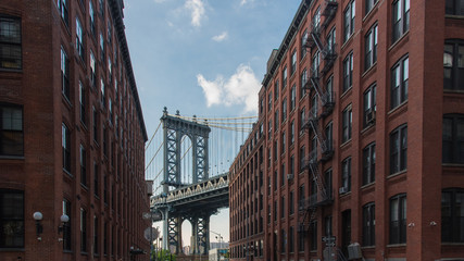 Manhattan Bridge at Dumbo area