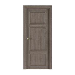 Door isolated on white background. 3D rendering.