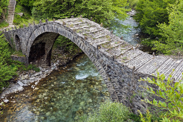 Old stone bridge in Epirus, Greece