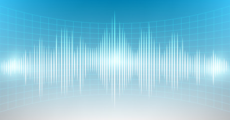 Abstract digital and sound wave background that can used for business presentation.