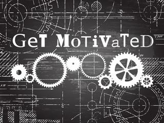 Get Motivated Blackboard Tech Drawing