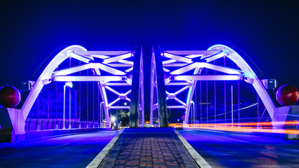 A view of 559 Bridge Lights on in Houston Texas USA