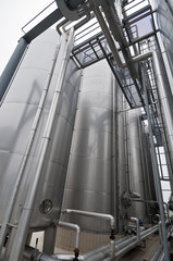 industrial plant for water purification