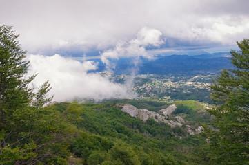 View of  Lovcen national park.   Montenegro