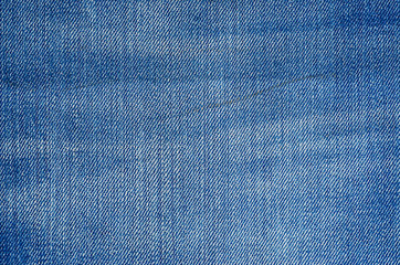 Shabby Denim Texture as Background. Texture of blue jeans textile close up. Blank backdrop for design