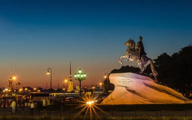 Лайтбокс панорамный Медный всадник 60x180-p031