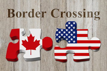 Canadians crossing the American border
