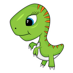 Cute Cartoon of Baby T-Rex Dinosaur