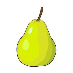 Isolated Cartoon Pear