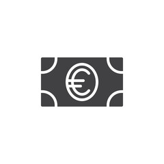 Money, dollar banknote icon vector, filled flat sign, solid pictogram isolated on white. Symbol, logo illustration. Pixel perfect