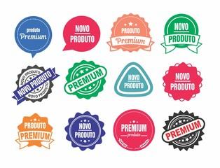 set Selo, Selo premium, produto novo, selo produto novo, selos para produtos